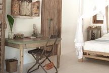 bedroom / bedrooms in natural colours