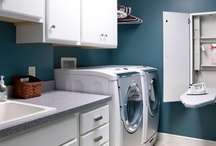 LAUNDRY / SEWING / BAR FRIDGE/ UTILITY Room / by Rosanne Butler