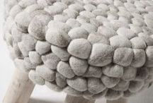 FELT ◇ for your home / felted cushions - rugs - wallhangings - objects - curtains etc.