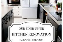 KITCHEN | Inspiration / kitchen styles. kitchen inspiration. A fixer upper style kitchen renovation. OUR FIXER UPPER #fixerupper