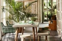 interiors with a green touch / a touch of green!