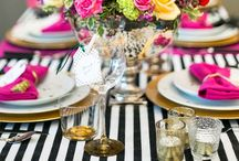 Tablescapes / There's nothing more beautiful than a snazzy table design / by Jennifer Evers of Me, Myself and Jen