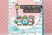 Celebrate the Season- Lawn Fawn / Cards and projects featuring Lawn Fawn Holiday Stamp Sets and Papers