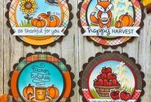 Awesome Autumn - Lawn Fawn / Cards and projects celebrating that time of year when the air gets crisp and cool and the leaves change color! All things Autumn, Back to School and Thanksgiving