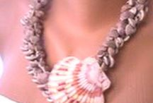 Seashell Necklace, Bracelet / Handmade beach weddings brides jewelries