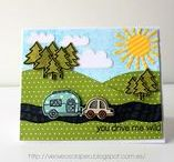 Create a Scene with Lawn Fawn / Cards and projects using multiple Lawn Fawn stamp sets to create a cute scene!
