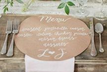 WEDDING :: menus / by Jeanine Linder
