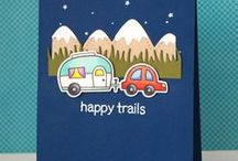 Trendy Travels - Lawn Fawn / Cards and Layouts using our travel and geography themed stamp sets!