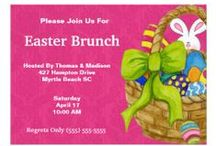 Customizable Easter Invitations / Colorful Easter Invitations for brunch and Egg Hunts during  Easter Holidays.
