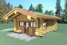 Weekender - 336 Sq. Ft. (31.2 sq m) Floor Plan / R.C.M. CAD DESIGN DRAFTING LTD is an architectural design firm primarily specializing in log and timber construction projects. We feature over 150 of our most creative designs categorized by living space total square footage.
