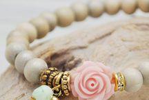 Resin rose bracelet