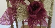 HestiaBridalGifts / Handmade Bridal Gifts, fabric flowers, paper huge flowers, napkin holder, candle decor, wedding table decor https://www.hestiabridalgifts.etsy.com