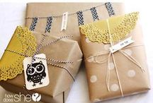 Paper Crafts Gift wrapping / by Brenda Hall