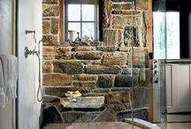 Bathrooms / Beautiful features in the #bath, #tubs, #sinks, #showers #tiles #faucets #creative spaces and repurposed objects for the #bathroom. / by Joy Siegel