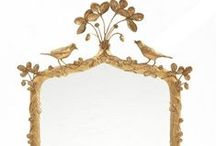 Mirror, Mirror on the wall / a mirror can make a room, I can't get enough #mirrors; love them in all shapes, sizes and finishes.  #gold #silver #distressed #interior #design / by Joy Siegel
