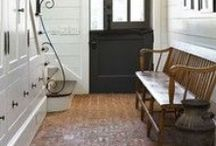 Mud Rooms, Larders & Pantries / A secondary entrance to the house needs to catch lots of things from keys and coats to muddy boots and flowers. / by Joy Siegel