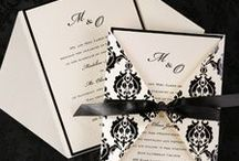 Black & White Weddings / A black and white wedding created with all the little details. Sophisticated yet simple and elegant selections carry through your theme.
