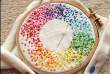 Embroidery / a single complete movement of a threaded needle in sewing  / by Laura Conry