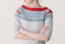 Marius Genser / Sweaters/Jumpers in traditional and modern variations of the traditional Norwegian, 'Marius', stranded knitting style.