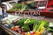 """clean. eating. /  """"Eat food. Not too much. Mostly plants."""" / by Jessica Beecham"""