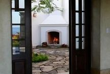 Fireplaces - Indoor and Outdoor / Examples of great looking fireboxes, fireplace surrounds and mantles.