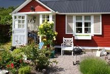 Cottages + Manor Houses / British Countryside, small cottages, Swedish homes, manor houses, architecture
