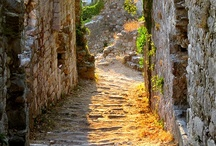 EUROPE : Old Cobblestone Streets / Streets, stairs ,etc. / by Monique Robinson