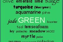 Green with Envy / All different shades of the color Green. / by Helaine Fossier
