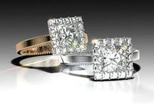 The Square Princess / Engagement rings with a princess cut center.