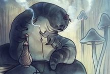 Alice in Wonderland / I've collected tons of Alice in Wonderland book's illustrations over the years. Now Pinterest gives me the opportunity to put some of them together.