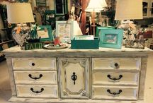 Antique Booth Inspiration / My booth at Sheffield Antiques' Mall in Collierville, TN / by Linda Greer