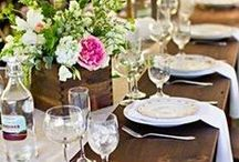 Rustic Refinement / Rustic doesn't have to be drab, elegant table and decorating ideas for weddings taking place in country halls, barns and rural settings. / by Grace My Table