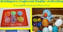 Montessori Holiday Hop / Montessori-inspired holiday activities and ideas for home or classroom