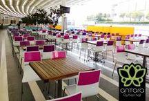 Sit In Color / Llenamos nuestro food court de color para que vengas a disfrutar el verano. #SitInColor
