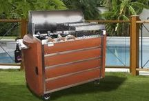 GRILL / Patented Grill stoked with charcoal .  Traditional grill or Churrasco