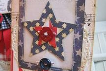 Red/White/Blue / Wonderful Patriotic pictures, crafts, cards and things I've pinned for you!  Barb Mann Stampin'Up!