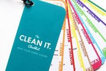 Cleaning & Organizing / Tips for cleaning & organising. Free printables