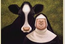Divine Bovine...and friends /  animal renderings / by Pam Posey
