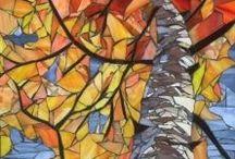 paper chip mosaic