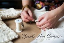 Brooks Ann Camper Couture / I'm a custom couture wedding dressmaker and designer.  I also teach and blog about what I do.  These pins feature something I made or wrote. www.BrooksAnn.com