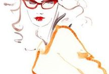 Fashion, Illustrated / Fashion in pencil, pen, and paint / by Laureen Burger