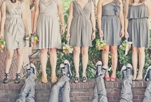 Bridesmaids / Grey bridesmaid dresses and such
