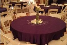 Purple Wedding / Purple and silver wedding