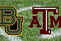 festive football party / Sic'em Bears and Gig'em Aggies! I love both of our alma maters because my husband and I started dating our senior year of collage. Both towns hold special memories of our love for one another, our friends and most of all our school pride!
