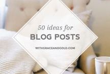Blog Ideas + Tricks / Helpful Blogging Tips and Tricks, Blogging Resources, and Blog Inspiration.