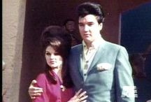 Elvis and Priscilla / The image is one thing and the human being is another. It's very hard to live up to an image, put it that way.  --Elvis Presley They are my favorite couple of all time.  / by Aimee Rogers