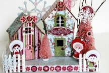 Glittered Putz and Paper Houses and Villages Ideas / by Ariel Brodnax