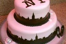 New York Wedding Cakes / New York or Central Park themed Wedding Cakes