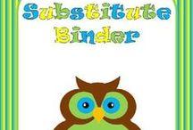Substitute Teacher Folder / Things for a substitute teacher to do