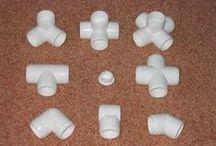 PVC / Ideias para instalações, utensílios e aplicações diversas feitas com canos e conexões deste material tão versátil.